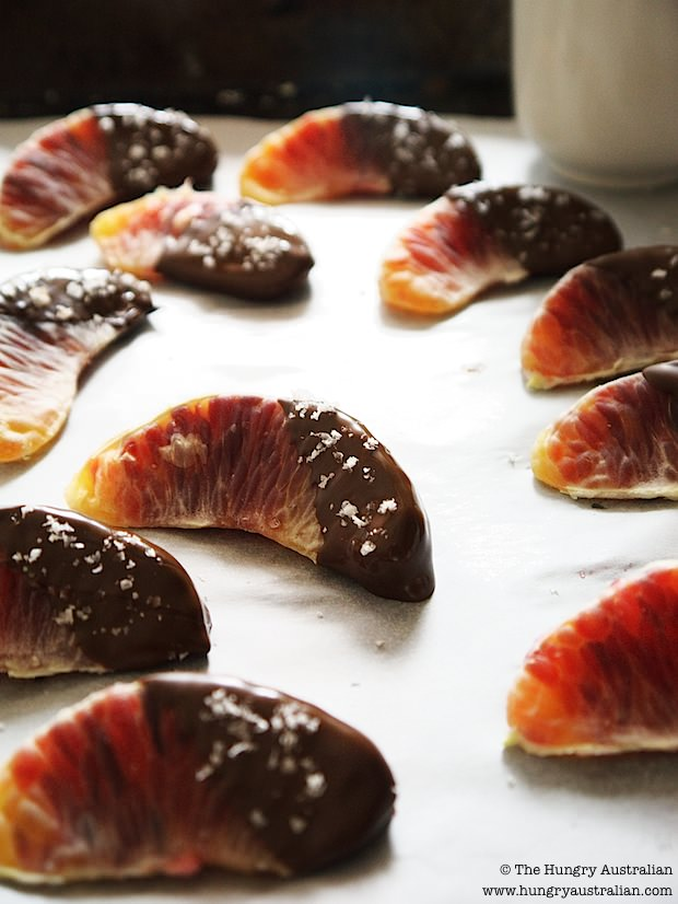 Post image for Blood Oranges with Dark Chocolate and Sea Salt