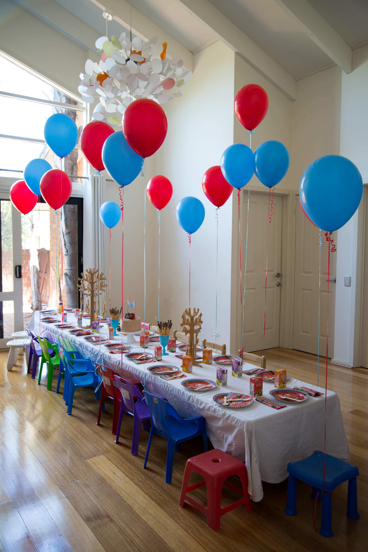 Lightning mcqueen party the hungry australian for Friendship crafts for 2 year olds