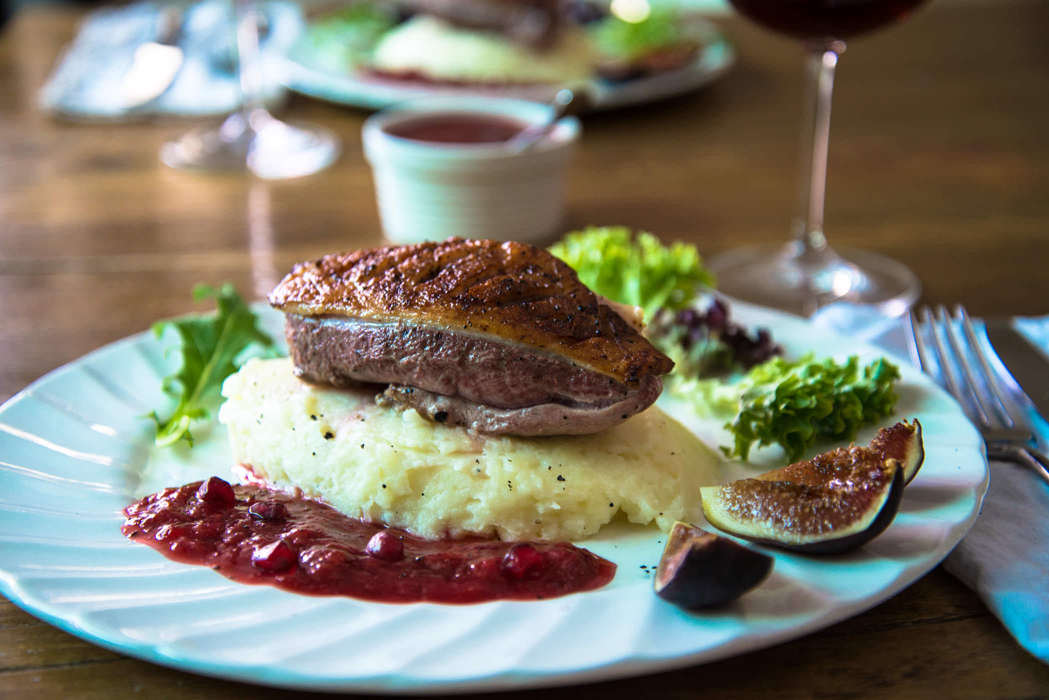 Duck with Plum Sauce & Figs