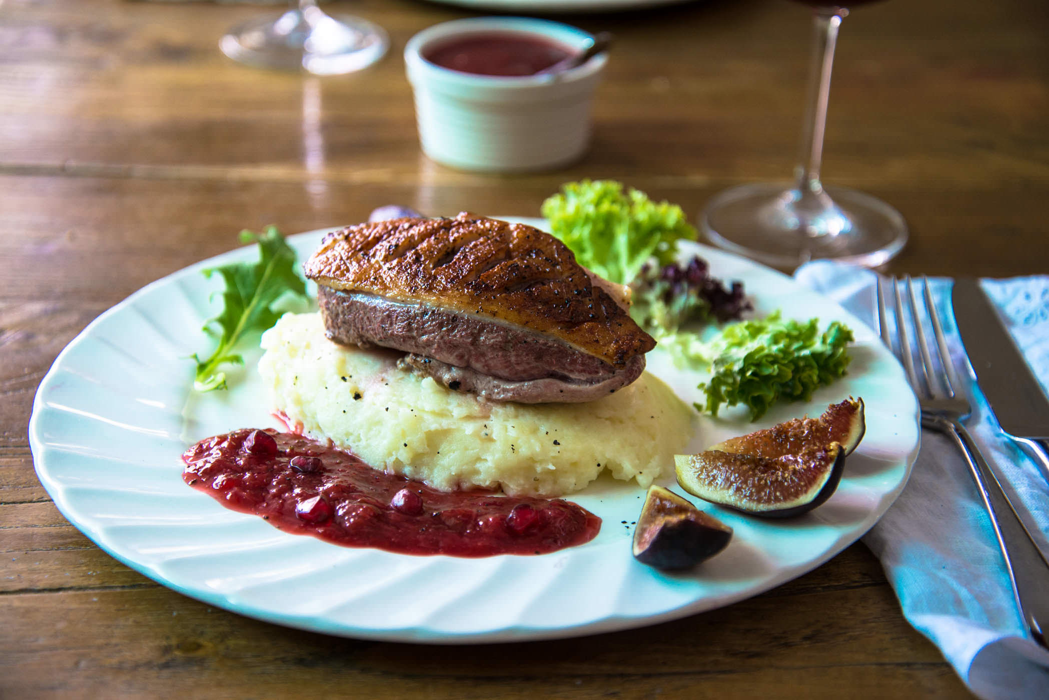 Duck with Plum Sauce and Figs