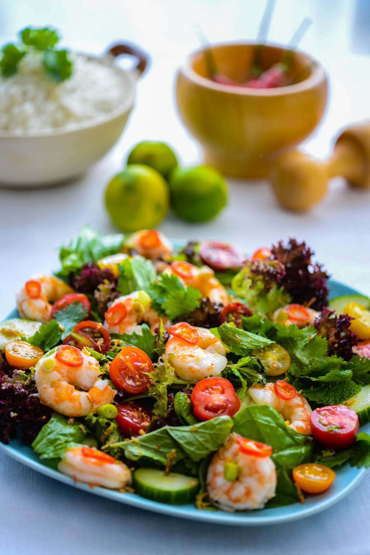 Recipe thai prawn salad the hungry australian for Fish and salad