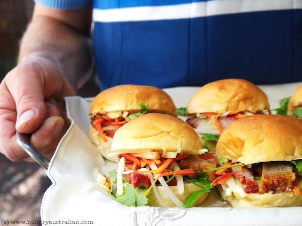 Christmas canapes the hungry australian mini vietnamese pork buns forumfinder Image collections