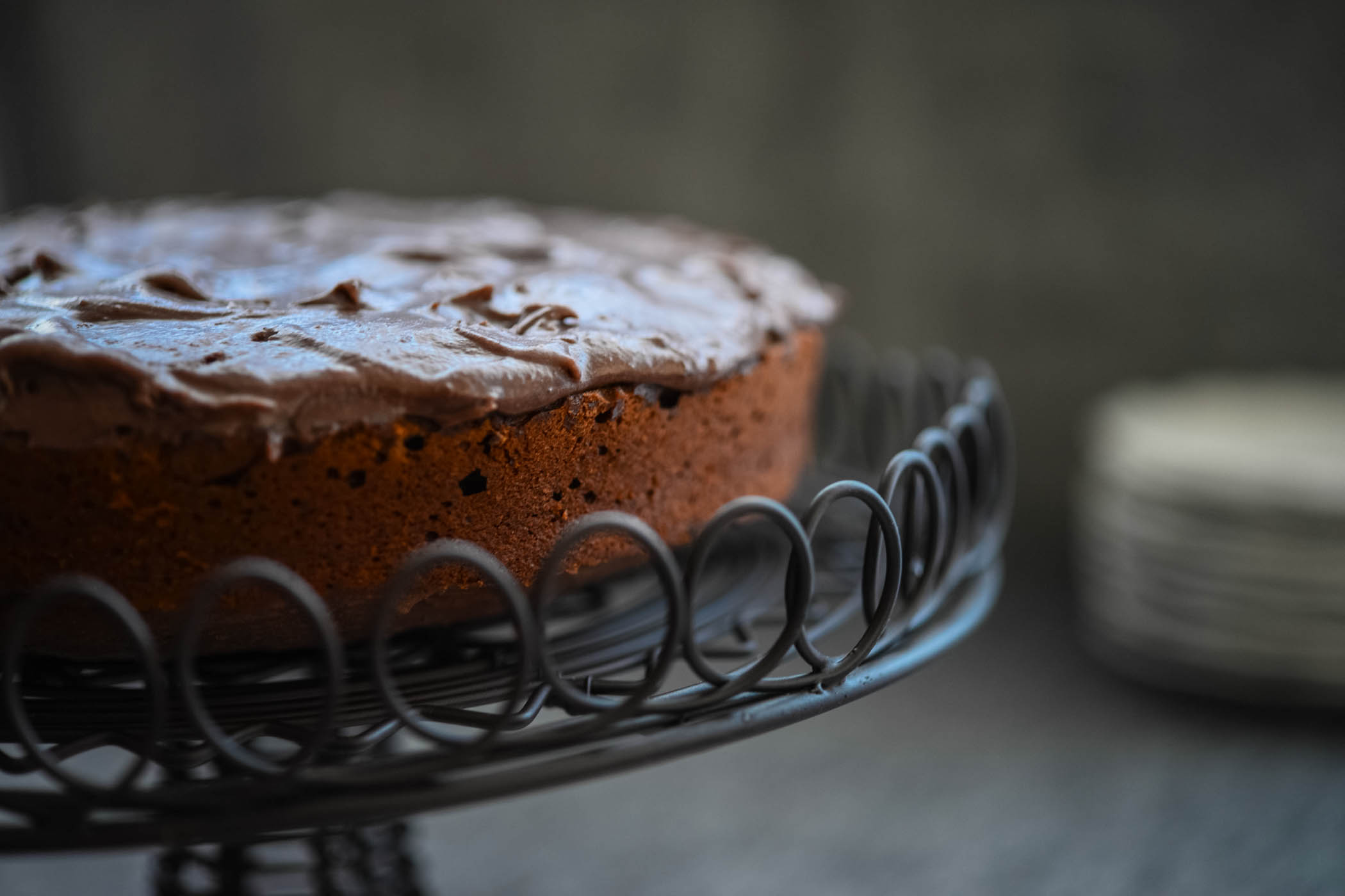 J's Chocolate Cake (dairy and egg free)
