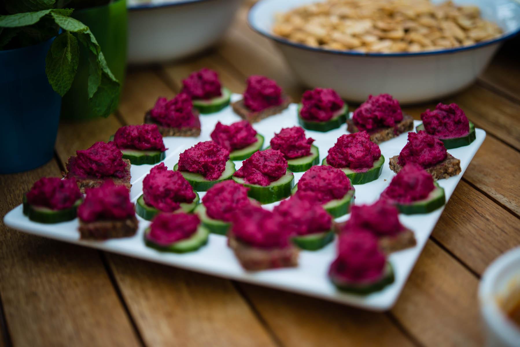 High tea menus and recipes - Beetroot Hummus