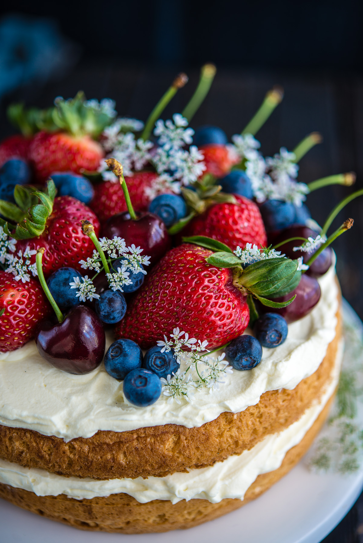 Jun 19,  · 9. While cakes cool, make the purees. You'll make the strawberry puree mixture separately from the blueberry one and have more strawberry than blueberry. To puree the berries, add them separately to a food processor and pulse until smooth.5/5(18).