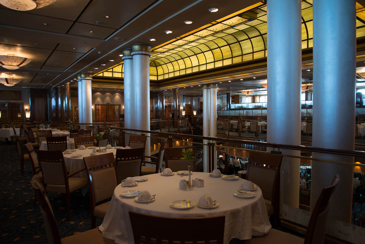 Following Drinks Dinner Has Been Booked At Britannia The Main Restaurant On Ship A Double Story Serves An Astonishing 2400