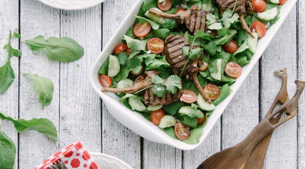 cumin lamb salad