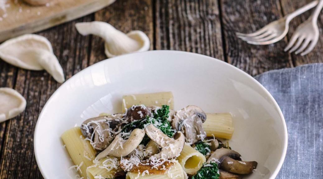 4 mushroom pasta
